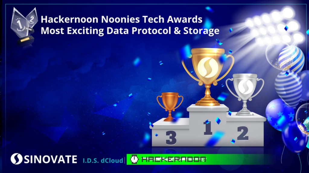 SINOVATE awarded Most Exciting Data Protocol during the HackerNoon Noonies 2020