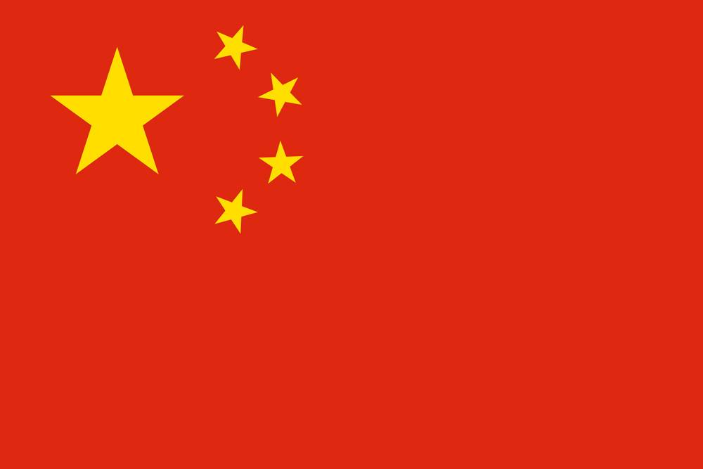 china flag medium